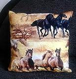 Pferdekissen/Zierkissen,Kinderzimmer Deko, Pferd Kinder,Geschenk Schulanfang, Geschenk für...