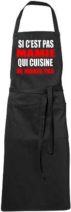 Tabliers De Cuisine Tablier Humoristique Noir Si Cest Pas Mamie