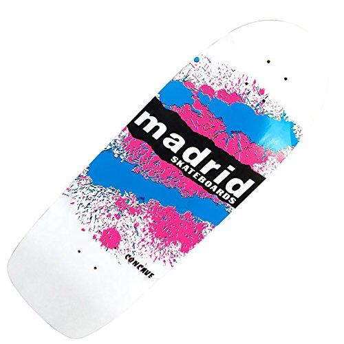 Madrid Skateboards 'Explosion' Old-School Schüssel Deck–Weiß–74,3x 24,1cm