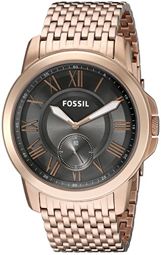 Fossil Men's FS5083 Grant Multifunction Stainless Steel Watch – Rose