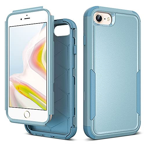 ULAK Cover per iPhone SE 2020 con Disegni 3 in 1 Resistente in PC Rigido + Morbido TPU Bumper Doppia Protezione Antiurto per Apple iPhone SE 2020/iPhone 8/iPhone 7/iPhone 6s/iPhone 6 4.7 Pollici,verde