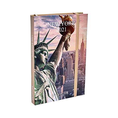 Draeger 2021 New York - Agenda de bolsillo con ilustración...