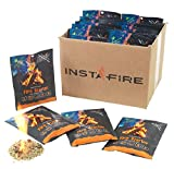 (30 Packs) Insta-Fire Fire Starter Emergency Fuel Eco-Friendly Granulated Bulk Excellent for Camping, Hiking, Fishing, and Other Outdoor Activities - As seen on Shark Tank!