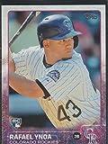2015 Topps Rafael Ynoa Rockies Rookie Baseball Card #695. rookie card picture