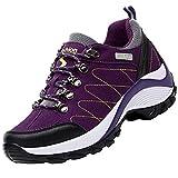 Unitysow Chaussures de Randonnée Homme Femme en Plein Air Respirant Bottes de Trekking Promenades Sneakers,Violet,37 EU