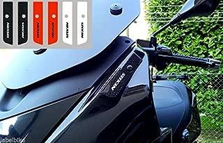 Tapas Espejos 2 Adhesivos Resina Gel 3D Compatible para Scooter Gilera Nexus - Blanco