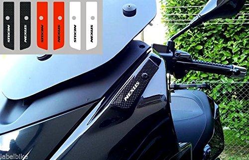 TAPPI SPECCHIETTI 2 ADESIVI RESINATI GEL 3D compatibili per scooter GILERA NEXUS
