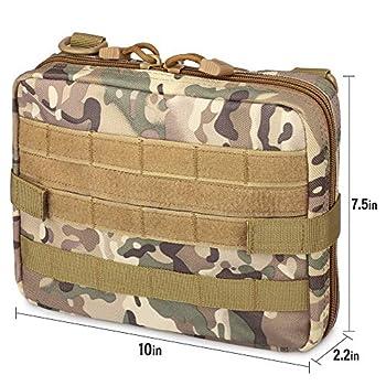 WYNEX Tactical Admin Molle Pochette, Sac médical EDC EMT Sac Utilitaire Shell Conception Attaches 1000D Sacs de Ceinture de randonnée en Nylon imperméable
