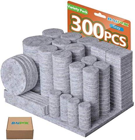 Furniture Pads 300 Pcs Premium Furniture Felt Pads Grey Huge Quantity Self Adhesive Felt Furniture product image