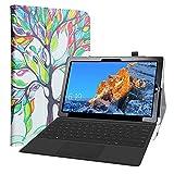 LiuShan Compatibile con TECLAST X4 2 in 1 Custodia,slim Sottile Pieghevole con supporto in Piedi caso per TECLAST X4 2 in 1 Laptop Tablet 11.6 Inch,Love Tree