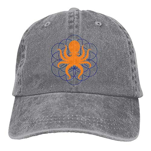 zhouyongz Gorra de béisbol de los pantalones vaqueros psicodélicos de la geometría sagrada Octopus-2 hombres sombreros de golf ajustable sombrero de papá