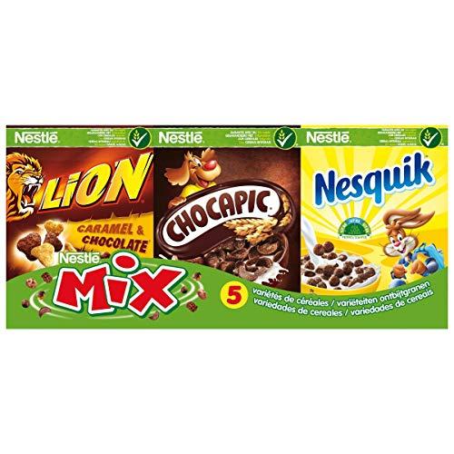 NESTLE Mix Assortiment de 6 variétés de céréales - Les 6 paquets, 190g