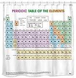 Sunlit Duschvorhang, Motiv: Periodensystem der Elemente, Wasserdichtes Material, Weich & geruchlos