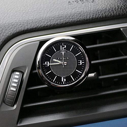 Compatible con Tesla Modelo 3 X Y S Coche Dashboard Reloj Ornaments Outlet Coche Reloj Clip Auto Modificación Automática Automóviles Accesorios