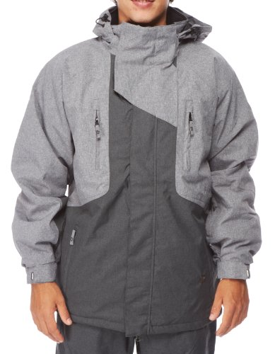 Light Herren Snowboardjacke Jackson, Grey Heather/Dark Grey Heather, L, FA738-13