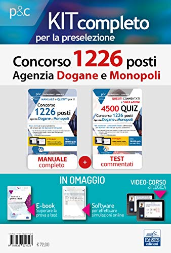 Concorso 1226 Posti Agenzia Dogane. Kit preselettivo