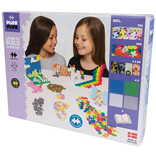 Plus-Plus Scatola Mini Pastel 1200 pz - Build Super Set