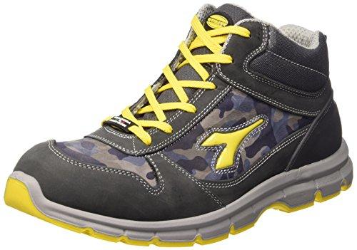 Diadora 701.158593 - Ejecutar los Zapatos Altos s3 SRC Seguridad, Adultos, Unisex Castillo Gris/Azul Luna, de 41 años