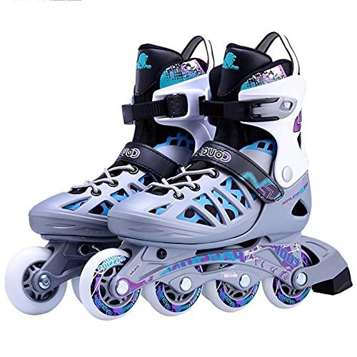 Inliner Damen Herren Inlinerskates,Verstellbare Klingen Rollschuhe Jugendliche Rollschuhe für Frauen und Männer Fitness Skates für Erwachsene A,L41~44