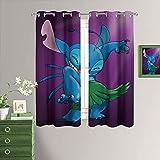 MRFSY Cortinas térmicas aisladas Lilo & Stitch cortinas opacas para ventana, 153 x 182 cm