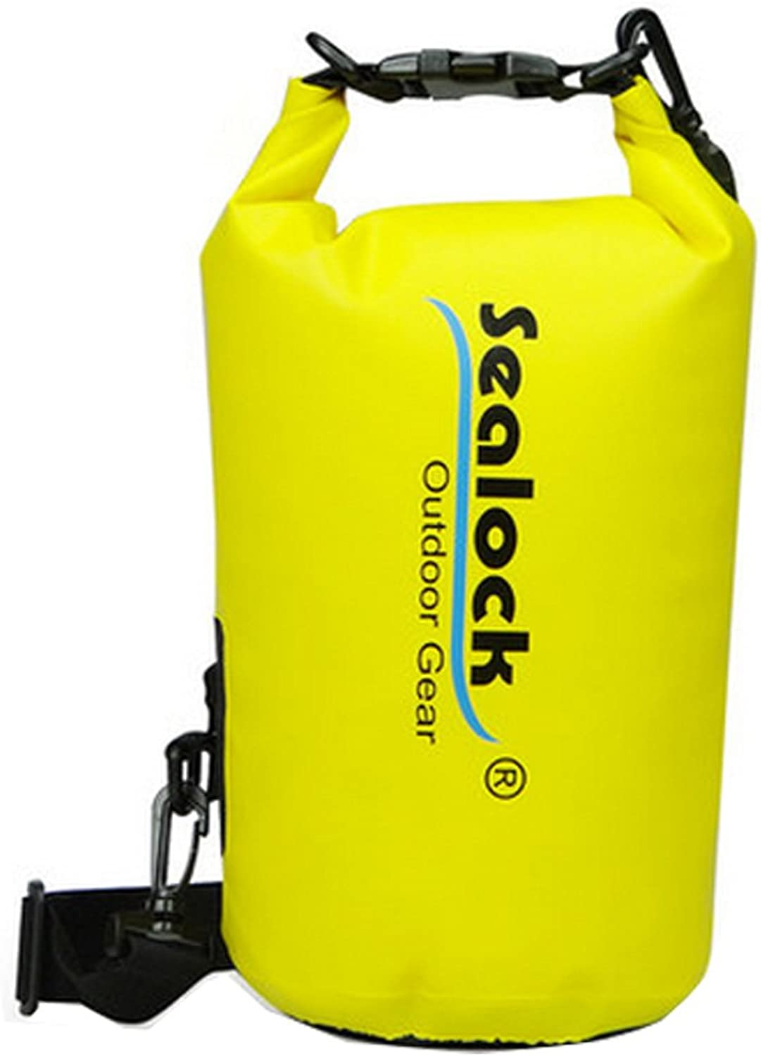 5LWaterproof Dry Sack for Boating Floating Swimming with Strap,Yellow