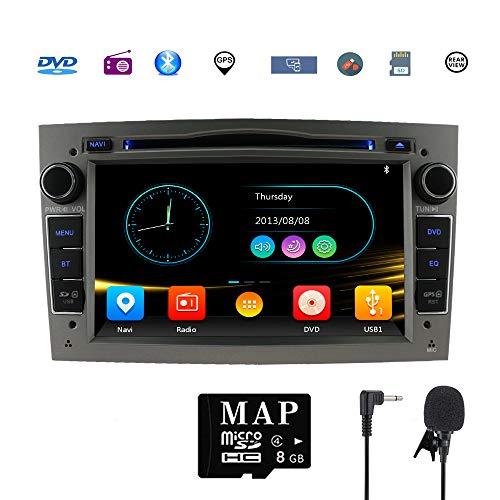 Stereo-Heim-Kfz-Satellit Navigator für Opel Doppel-Din Headunit 17,8 cm (7 Zoll) 2 DIN Autoradio mit DVD CD Player...