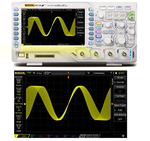 RIGOL Osciloscopio digital DS1104Z Plus, 100 MHz, 4 canales, 1 GSa/s, 24 Mpts, disparadores y decodificaciones gratuitas.…