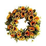 Deko Kranz Wandkranz Künstliche Girlande Dekoration - Sonnenblumen Kranz Ornamente