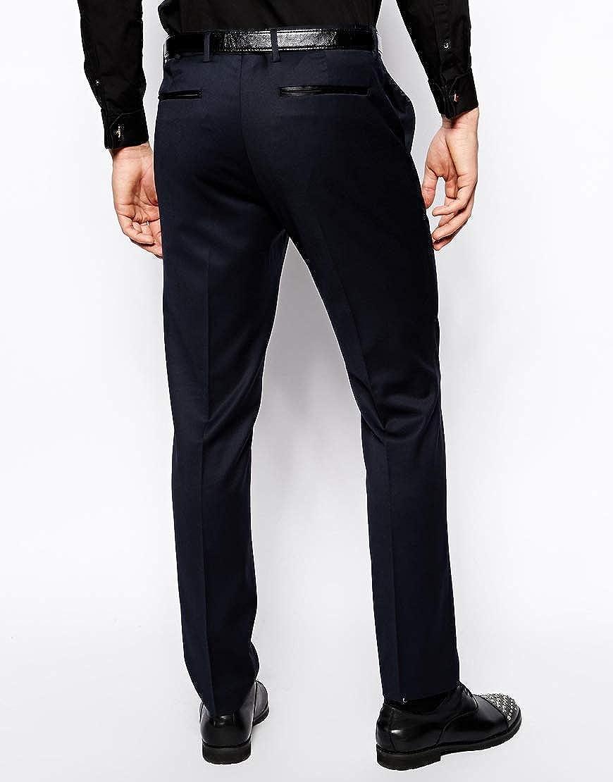 UMISS Men's Slim Fit 2-Piece Suit One Button Shawl Lapel Jacket Smart Wedding Formal Tuxedo