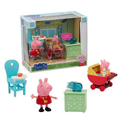 Giochi Preziosi Habitación Pig Mini Playset Peppa y el Pequeño Alex, Multicolor, PPC43300