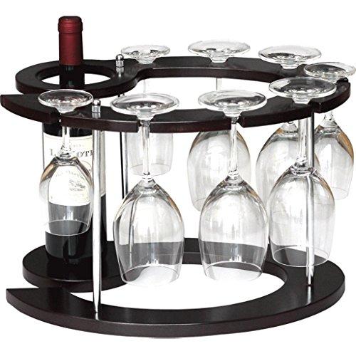 Application de décoration murale 1 Bouteille Composite Board Wine Rack - Ménage Salon Multi-fonction Étage Vin Étagère À L'envers Titulaire de Verre de Vin Décoration Racks pour étagères