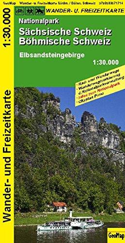 GeoMap Karten, Nationalpark Sächsische Schweiz, Böhmische Schweiz