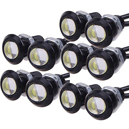 E Support™ 10 X 9W LED DRL aigle oeil moteur de voiture lumi¨¨re de brouillard diurne inverse sauvegarde signal DRL ampoule LED blanche