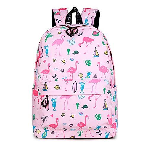 UNILIFE Mochilas Escolares Adolescentes Mochila Flamingo Mochila Infantil Impresas De Moda con Bolsa De Almuerzo y Estuche para Lápices 17 L