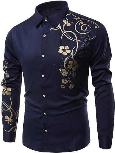 Camisas hombre Manga larga de los hombres casual camiseta