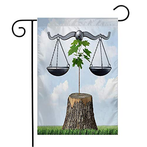 Welcome Garden Flag Environment Tree Law Chopped Nature Resources by Legal Justice Action Conservation Miscellaneous Seasonal Garden Flags for Patio Lawn Outdoor Home Decor Gift 12 X 18 Inch