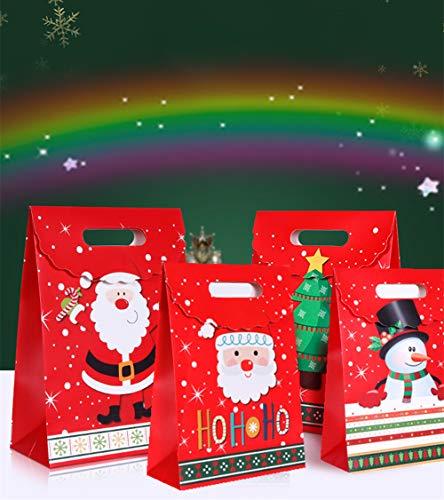 JeVenis 12 PCS Christmas Party Supplies Christmas Party Favor Bags for Christmas Cookie Boxes Christmas Cake Boxes