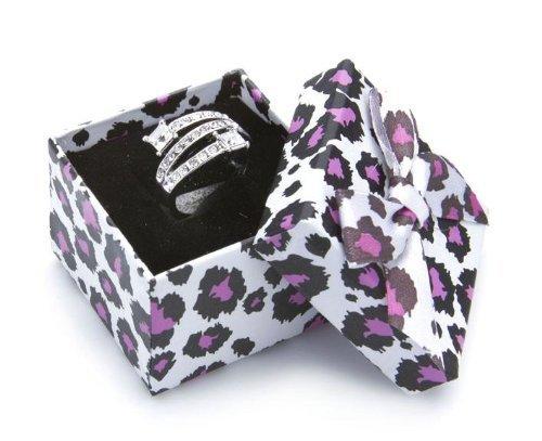 Silvity Geschenk-Schachtel im Tiger-Look wunderschöne Geschenkbox eine tolle Geschenkidee 4.5cm*4.5cm*3.5cm 301-20