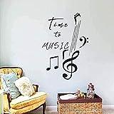 Decoración del hogar Pegatinas de pared Pegatinas de interior Pegatinas de tiempo para la música Notas musicales Inscripciones Melodía Canciones Pegatinas Chicas Niños Pegatinas de dormitorio 40x57cm