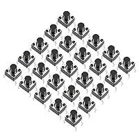 uxcell マイクロタクトスイッチ 押しボタンスイッチ パネルミニ PCBモメンタリ DIP 6x6x7mm 25個入り