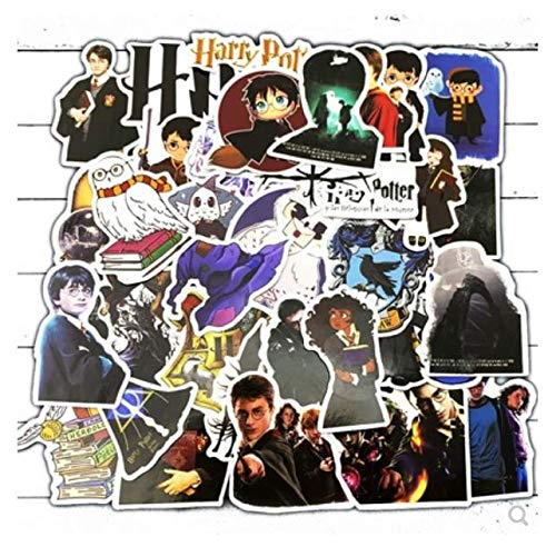ZJJHX Harry Potter Doodle Personalidad Etiqueta PVC Etiqueta Maleta Maleta Guitarra Etiqueta del Coche Impermeable 50 Hojas