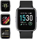 ZoeeTree Smartwatch, Reloj Inteligente Hombre y Mujer Pulsera Inteligente Deportivo Impermeable IP68 con Pulsómetro, Calorías, Monitor de Sueño, Pantalla Táctil Completa Reloj Fitness para Android iOS