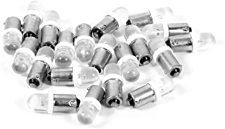 Cuque Dashboard Light Bulb 20Pcs T11 T4W BA9S H6W 1895 Convex 1LED Auto Car LED White Dashboard Light Bulb Base Type BA9S