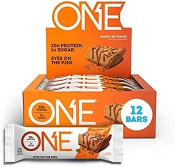 12-Pack ONE Protein Peanut Butter Pie Gluten Free Protein Bars, 2.12 oz