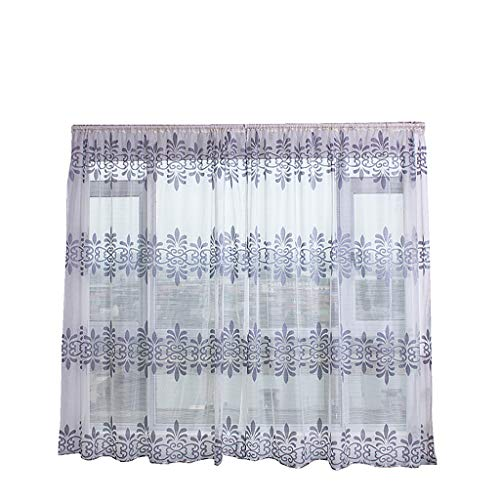 Best Soft Sheer Curtain Tulle Window Treatment Voile Drape Valance Panel Fabric for Bedroom (Gray)