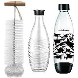 Grunda 330cm Flaschenbürste Reinigungsbürste Kompatibel mit Sodastream Flaschen, für Glasflaschen Pet-Flashe Sprudlerflaschen Babyflaschen, mit langem Griff