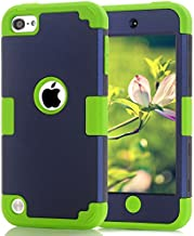 Case for iPod Touch 7th Generation (iPod Touch 2020, 2019) - CheerShare Protective Silicone iPod Touch Cover Case High Impact Shockproof Armor Water Resistant Protection Case for iPod (Blue+Green)