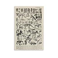 Dinosaur Skeleton キャンバスポスター寝室の装飾スポーツ風景オフィスルームの装飾ギフト,キャンバスポスター壁アートの装飾リビングルームの寝室の装飾のための絵画の印刷 12x18inch(30x45cm)