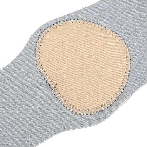 Cerlingwee Plantilla de pies, sin deformación, Antideslizante, 2 Piezas/par, Almohadilla para Zapatos, Masaje, Soporte de Arco de Silicona para pie Plano para pie Recto(Gray)