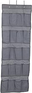 Xuniu Schuhregal über Tür Speicher, 20 Ineinander greifen Taschen Hochleistungs, die über der Tür Schuh Speicher Grau hängen